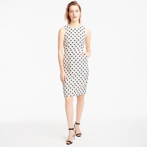 be815c72 J. Crew Dresses & Skirts - J. Crew Sheath Dress In Polka Dot Textured